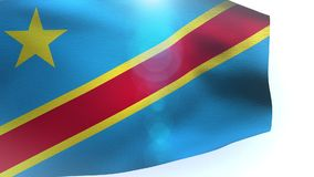 Flag of Democratic Republic of the Congo waving in the wind. Video stock video footage