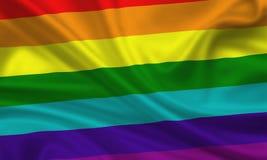 flag den glada lesbisk kvinna Royaltyfria Bilder