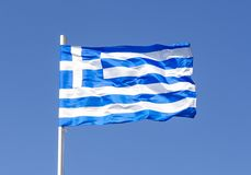 flag den greece nationalen fotografering för bildbyråer