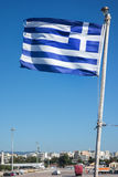 flag den greece nationalen Royaltyfri Fotografi