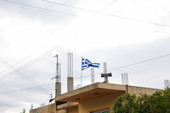 flag den greece nationalen Fotografering för Bildbyråer