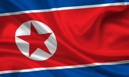 flag den korea norden Arkivfoto
