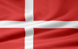 Flag of Denmark Royalty Free Stock Photo