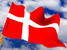 Flag. Denmark Royalty Free Stock Photos