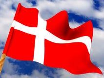 Flag. Denmark. Very beautiful three-dimensional illustration, figure Royalty Free Stock Photos