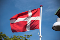 Flag of Denmark Royalty Free Stock Photo