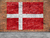 Flag of Denmark and foreground Stock Photography