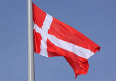 Flag of Denmark Royalty Free Stock Photography