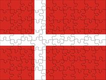 Flag of Denmark puzzle Royalty Free Stock Images