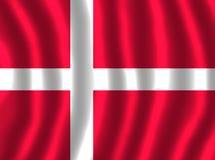 DENMARK FLAG FLUTTERING stock illustration