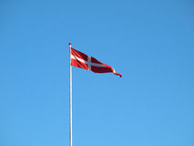 Flag of Denmark up high Royalty Free Stock Photography