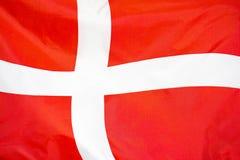 Flag of Denmark. Flag of Denmark waving in the wind
