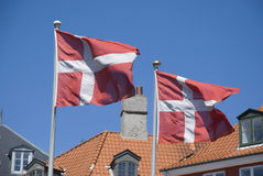 Flag of denmark Royalty Free Stock Photos