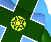 Flag of Derbyshire, England. Royalty Free Stock Photos