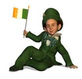 flag det irländska troll Royaltyfria Foton
