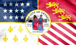 Flag of Detroit, Michigan. USA. 3d Rendered Flag of Detroit, Michigan. USA Royalty Free Stock Image
