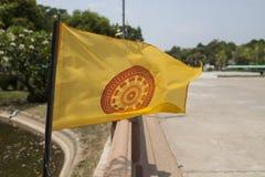 Flag Of Dhammajak, Symbol Of Buddhism Royalty Free Stock Photo