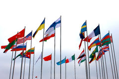 Flag of different countries Royalty Free Stock Images