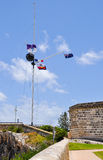 Flag Display and Time Ball: The Round House Historic Site Royalty Free Stock Photos
