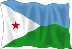 Flag of Djibouti Stock Image