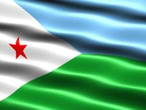 Flag of Djibouti Stock Images