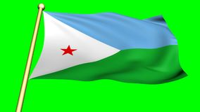 Flag of Djibouti, Africa
