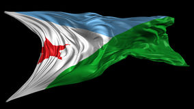 Flag of Djibouti Royalty Free Stock Photo