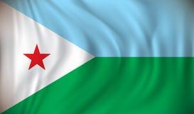 Flag of Djibouti Royalty Free Stock Photo
