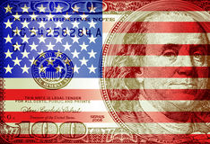 Flag dollar Royalty Free Stock Photo