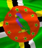 Flag of Dominica Royalty Free Stock Photo