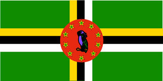 Flag of Dominica Royalty Free Stock Photography