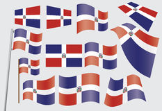 Flag of Dominican Republic Stock Photos