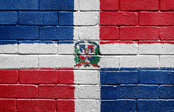 Flag of Dominican Republic on a brick wall Stock Photos