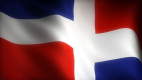 Flag of Dominican Republic stock video