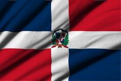 Flag of Dominican Republic Stock Photo
