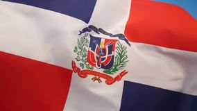 Flag of Dominican Republic. The national and state flag of the Dominican Republic royalty free illustration