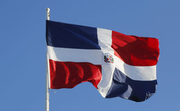 Flag of Dominican Republic Stock Photo