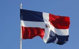 Flag of Dominican Republic. In Punta Cana,  Dominican Republic Stock Photo
