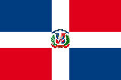 Flag of Dominican Republic Stock Images