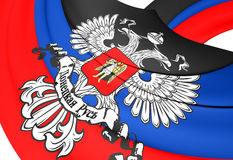 Flag of the Donetsk People`s Republic Royalty Free Stock Image
