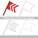 Flag. Drawing worksheet. Royalty Free Stock Image