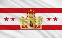 Flag of Drenthe of Netherlands. Flag of Drenthe is a province of the Netherlands, located in the northeast of the country royalty free stock image