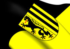 Flag of Dresden, Germany. Stock Photography