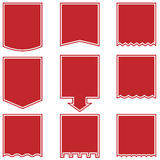 Flag Drop Buttons - Red Stock Images