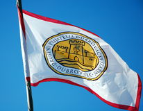 Flag of Dubrovnik City Royalty Free Stock Photography