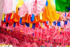 Flag. Duoqietalin prayer flags Gannan region Royalty Free Stock Image
