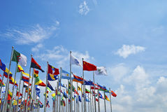 The flag of each country Stock Photography
