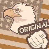 Flag eagle and hand Stock Image