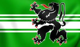 Flag of East Flanders, Belgium. Stock Image