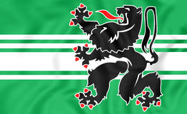 Flag of East Flanders, Belgium. Royalty Free Stock Photos